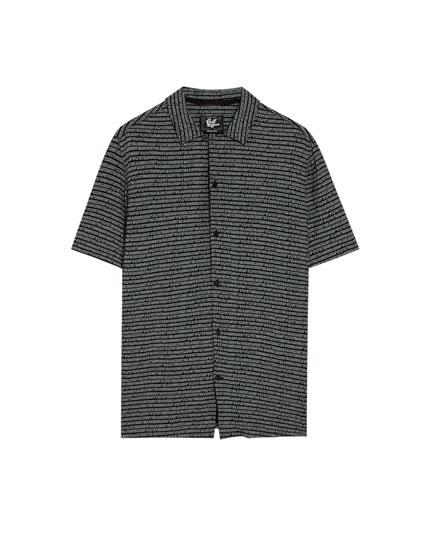 Camisa màniga curta lletres total look