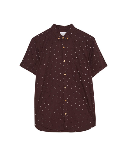 Short sleeve all-over print shirt