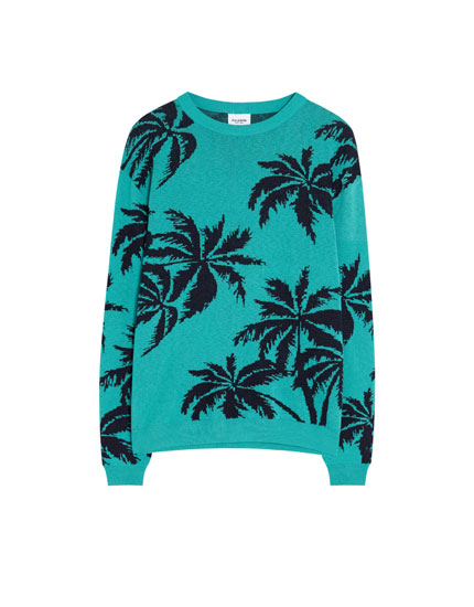 Pullover mit Palmenprint