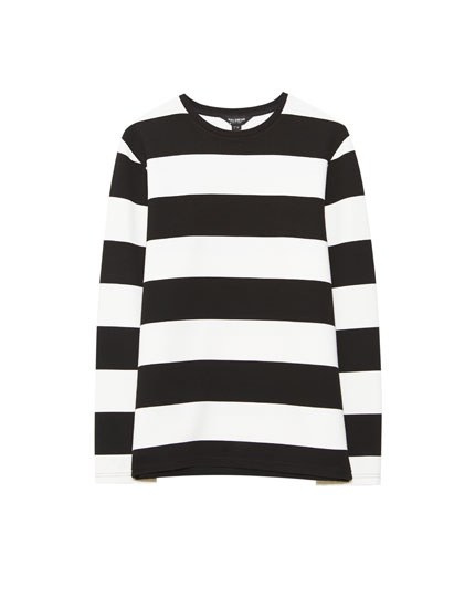 Striped ottoman sweatshirt