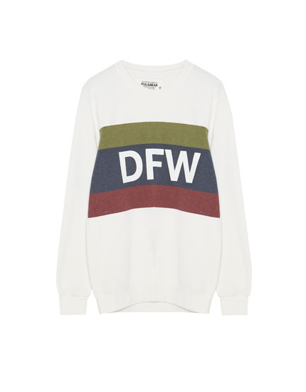 Slogan sweatshirt with panels