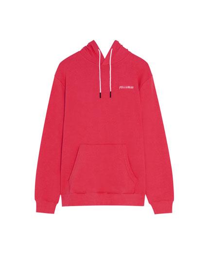 Sweatshirt mit Kapuze und Stickerei