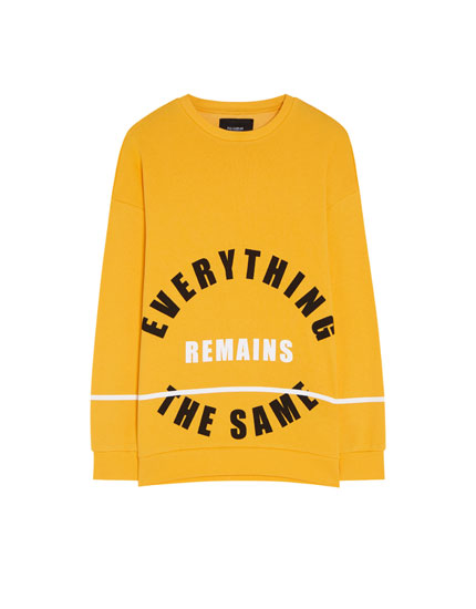 Sweatshirt with circular print