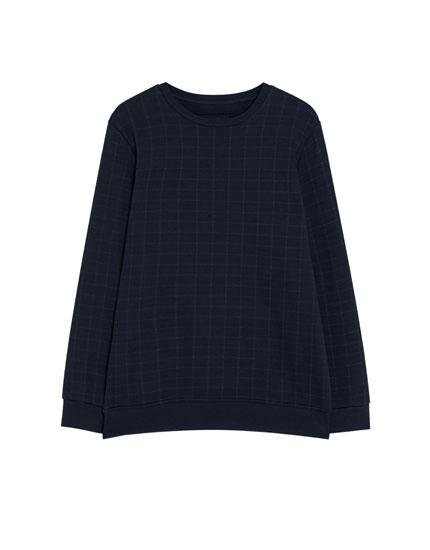 Sweatshirt met met ruitenprint