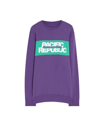 Sweatshirt med rundhals Pacific Republic