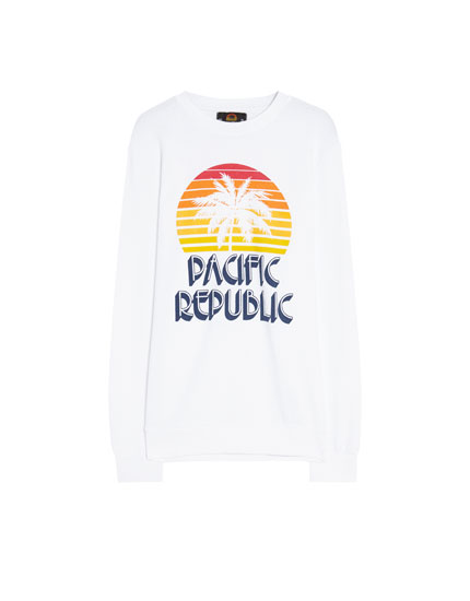 Pacific Republic palm tree sweatshirt