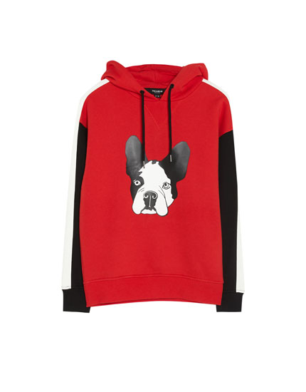 Sweatshirt with dog motif