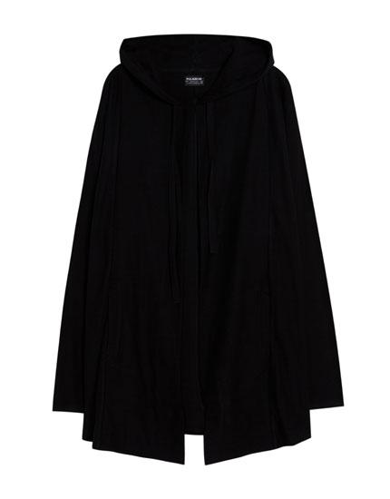 Jachetă simplă cu glugă