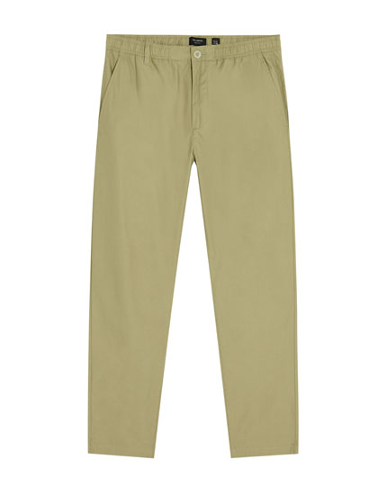 Cuffless beach trousers