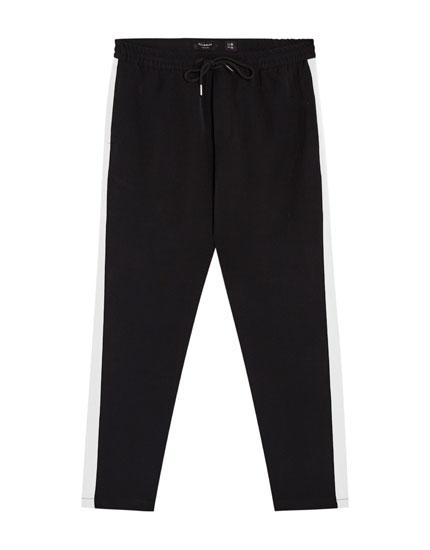 Tailored trousers with side stripe detail
