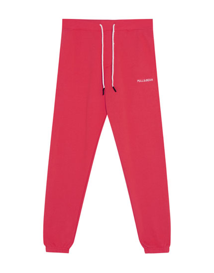 Coloured jogging trousers