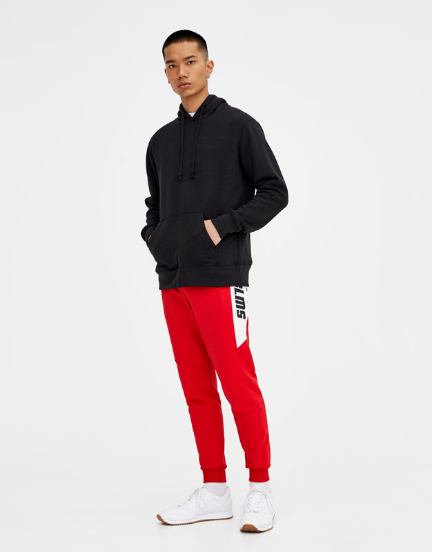 Jogging trousers with panels