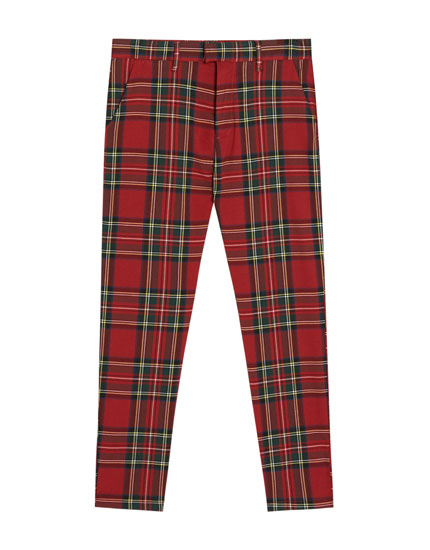 Tailored plaid trousers