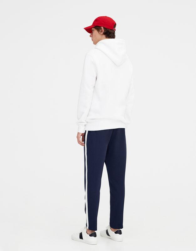 Pantalon tailored avec bande lat rale bande lat rale pantalons v tements homme pull - Pantalon bande laterale homme ...