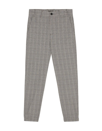 Tailored trousers with elastic hems