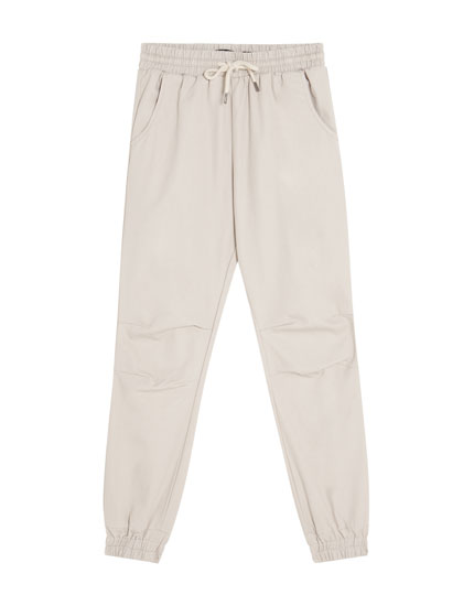 Beach trousers with elastic waistband