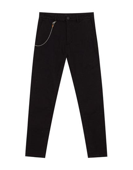 Pantalon tailoring avec chaîne