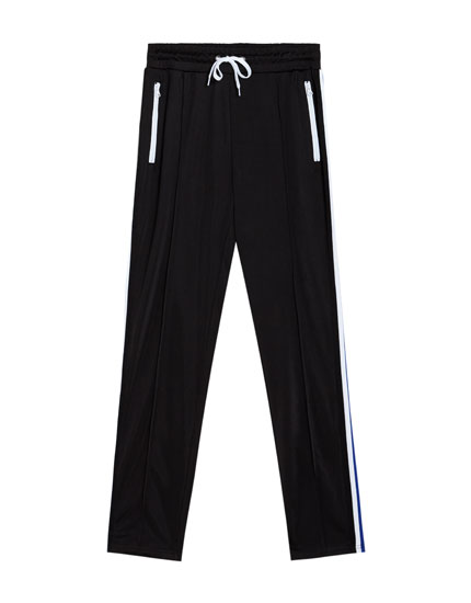 Jogging trousers with side stripe detail