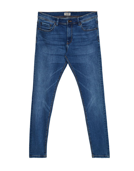 Blue super skinny fit jeans