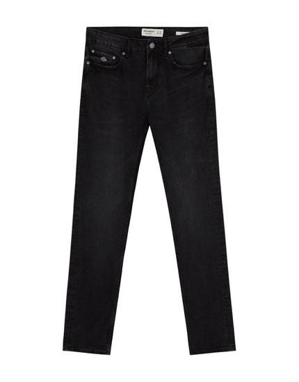 Slim fit comfort washed jeans