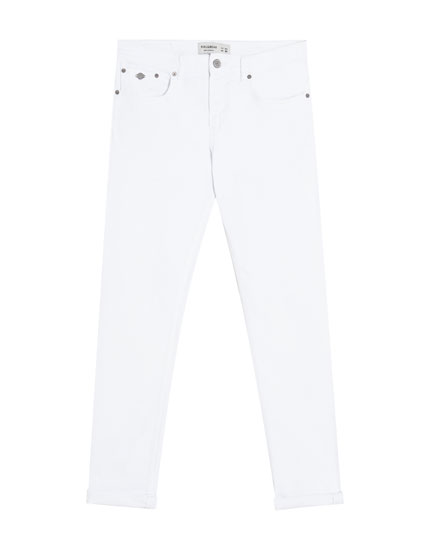 Weiße Slim-Comfort-Jeans