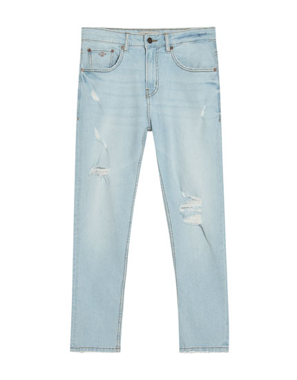 Jeans slim confort fit en azul medio