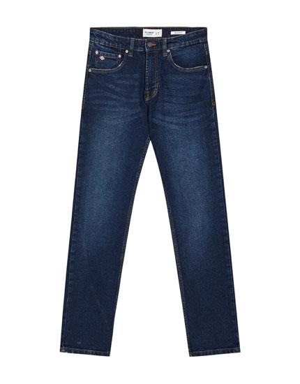 Regular-Comfort-Fit-Jeans in Dunkelblau
