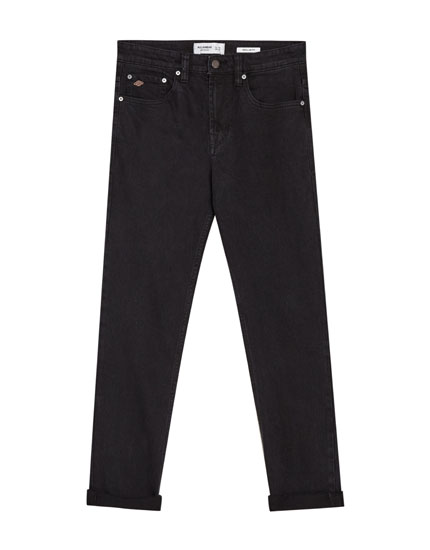 Black regular comfort fit jeans