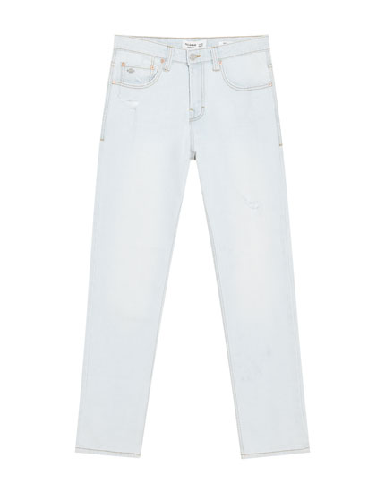 Comfort regular fit jeans with rips