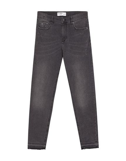 Super skinny grey jeans