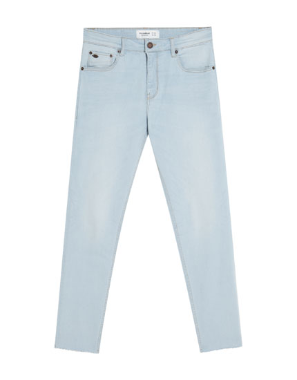 Jeans superskinny total bleach