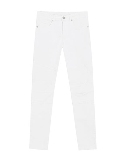 Witte superskinny fit jeans