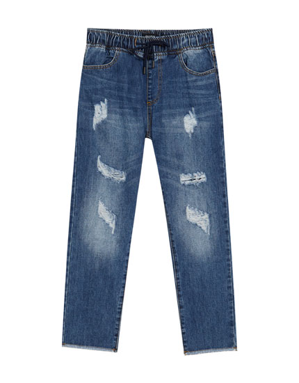 Joggingbukser i denim