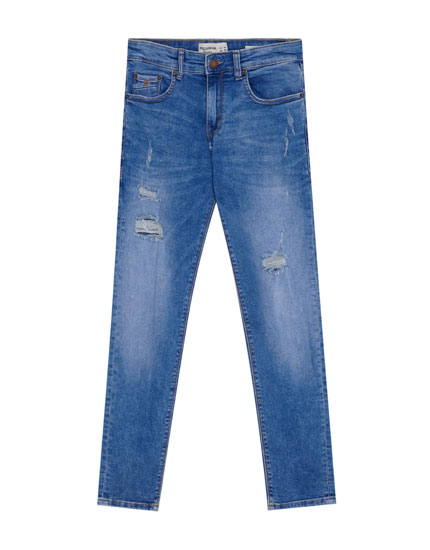 Jean superskinny fit déchiré