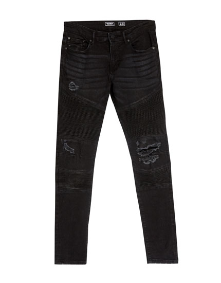 Superskinny fit bikerjeans