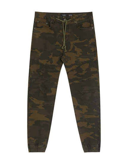 Blugi slim fit camuflaj