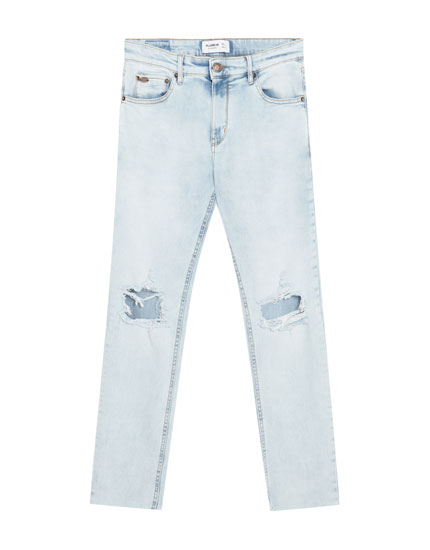 Jeans super skinny fit rotos