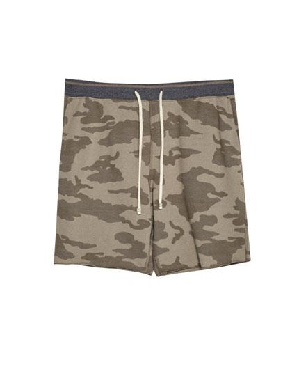 Bermuda jogging camouflage