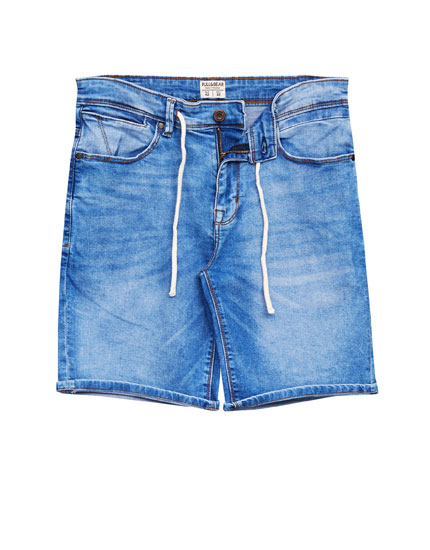Slim fit bermuda shorts