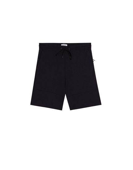 Piqué jogging Bermuda shorts