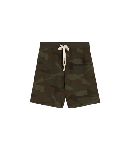 Camouflage jogging Bermuda shorts