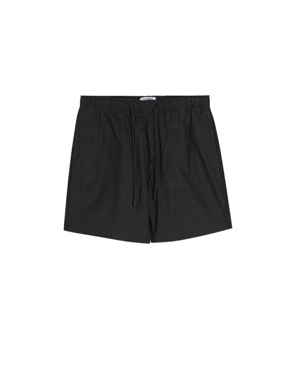 Basic Bermuda shorts with drawstrings