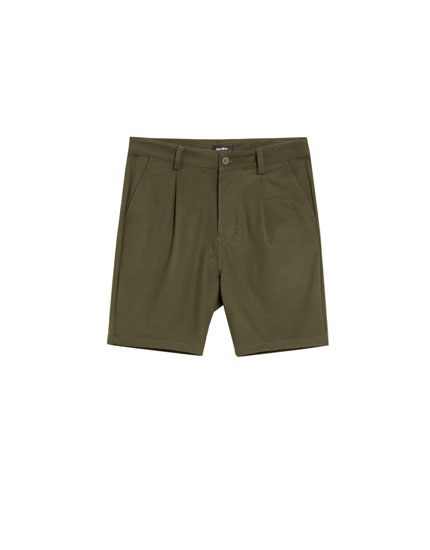 Tailored Bermuda shorts with darts