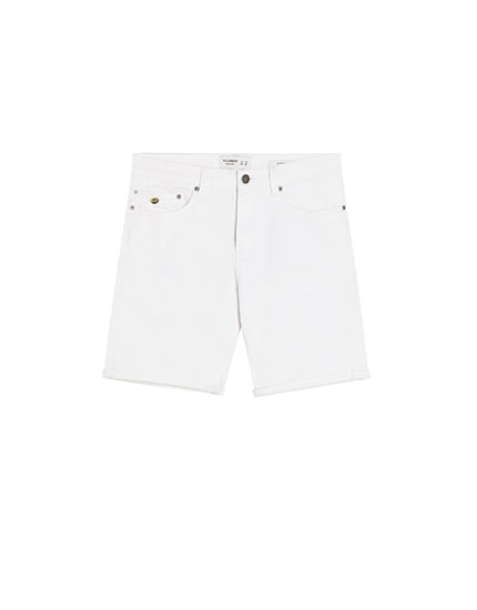 Slim fit comfort denim Bermuda shorts