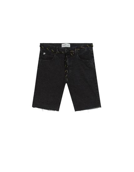 Jeans-Bermudashorts im Super-Skinny-Fit