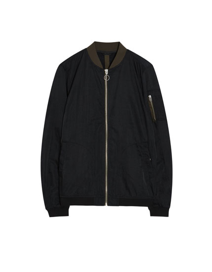 Bomber jacket with zip