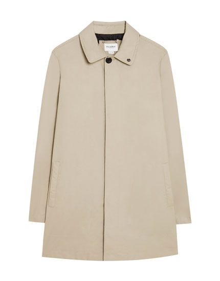 Sand-coloured trench coat