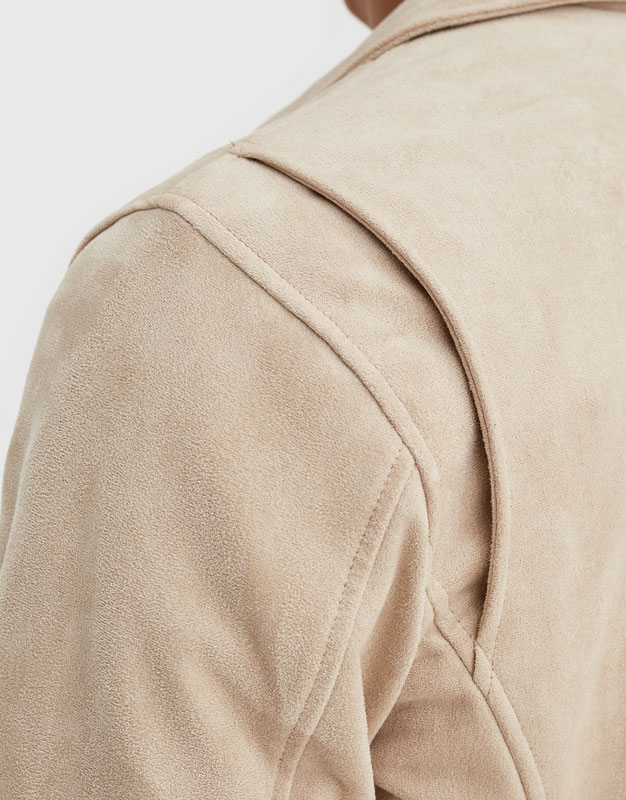 Bomber jacket with shirt-style collar