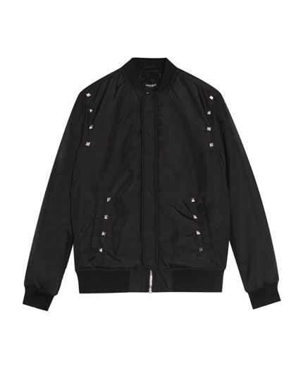 Bejewelled bomber jacket