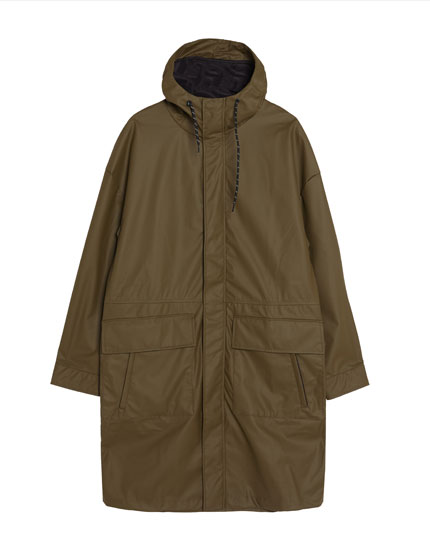 Raincoat-style jacket